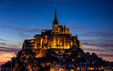 Обои для рабочего стола: Mont-saint-michel, basse-normandie, le mont-st.-michel, france, мон-сен-мишель