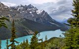 Обои: пейзаж, banff national park, река, горы, peyto lake
