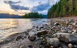 Обои для рабочего стола: canada, harrison lake shoreline, sasquatch provincial park, british columbia, harrison hot springs