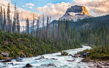 Обои: canada, british columbia, takakkaw falls, rockey peak, yoho national park