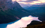 Обои: canada, dusk, banff national park, peyto lake