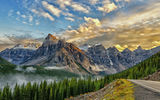 Обои для рабочего стола: canada, mount babel, on the road to lake moraine, valley of the ten peaks, banff national park, alberta