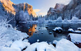 Обои для рабочего стола: usa, winter season, yosemite national park, california
