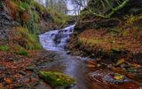 Обои для рабочего стола: england, lancashire, dean brook waterfall, gb, rivington