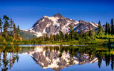 Обои для рабочего стола: usa, picture lake, washington, places, mountains, national wilderness area