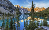 Обои для рабочего стола: Moraine Lake, Canada, Alberta, Banff National Park