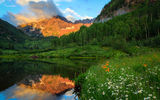 Обои: Maroon Lake, Maroon Bells, Colorado