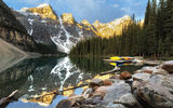 Обои: Moraine Lake, Alberta, Canada, Banff National Park