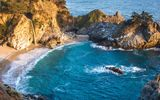 Обои для рабочего стола: McWay Falls, California, Julia Pfeiffer Burns State Park, Big Sur