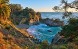 Обои для рабочего стола: McWay Falls, Big Sur, Julia Pfeiffer Burns State Park, California