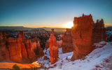 Обои: Bryce Canyon National Park, закат, горы, скалы