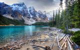 Обои для рабочего стола: Morraine Lake, Ten Peaks, Canada, Valley, Alberta