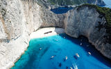 Обои для рабочего стола: Navagio bay, Shipwreck beach, Greece, Zakynthos island
