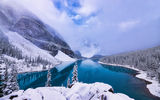 Обои: Moraine Lake, деревья, Canada, зима, Banff National Park, Alberta, пейзаж, горы