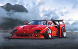 Обои: Ferrari, F40, by Khyzyl Saleem, Car, Concept, Red