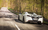 Обои для рабочего стола: McLaren, trees, road, Gemballa, speed, car, MP4-12C, GT Spider, white