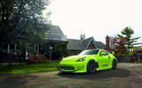 Обои для рабочего стола: 370z, Nissan, vossen wheels, tuning, green, frontside