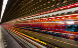 Обои: long exposure, metro, prague, light, light trails