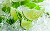 Обои: лед, lime, листья мяты, citrus, mint leaves, лайм, цитрус, ice