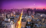 Обои: new york, sunset, usa, East Side, закат, нью-йорк, nyc, moon