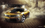 Обои: Car, Eagle, Muscle, Gold, ZL1, Chevrolet, Camaro