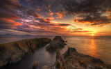 Обои: Ireland, Ирландия, sea, горизонт, Донегал, закат, Donegal, море, sunset, horizon, Malin Head