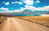 Обои: cloud, road, atacama, chile, lake, desert, mountain