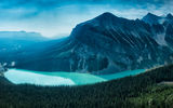 Обои: mountain, forest, canada, lake louise, alberta
