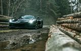 Обои для рабочего стола: Forest, Black, Front, Ferrari, LaFerrari, Dark, Supercar