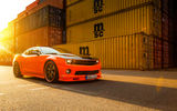 Обои: Car, Muscle, Front, Chevrolet, Sun, Camaro, Tuning, Wheels, Beam, Orange