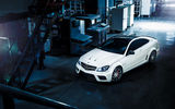Обои для рабочего стола: View, Series, Color, AMG, White, C63, Top, Mercedes-Benz, Ligth, Black