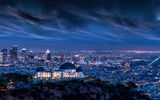 Обои для рабочего стола: Architecture, Griffith Observatory, Lightning, Cityscape, L.A, Clouds, Long, Exposure, Sky, Night, Lights, Los Angeles