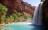 Обои: горы, природа, Arizona, Havasupai Reservation, Hava-sui Falls, Grand Canyon National Park, водопад, река