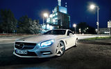 Обои: Mercedes-Benz, Tuning, Graf Weckerle, Xenon, Night, White, Lights, SL 500, 2012 Car, Glow