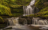 Обои: Йоркшир-Дейлс, Scaleber Force Falls, England, Yorkshire Dales National Park, Англия, каскад, водопад