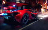 Обои для рабочего стола: Mclaren, Glow, Street, Tuning, Lights, Spoiler, Hypercar, Motion, Sportcar, P1, Night, Concept, Supercar