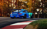 Обои: Porsche, Spoiler, Track, Sportcar, Widebody, GT3, Competition, Team, RSR, Falken, Trees, 911