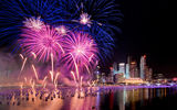 Обои: Fireworks, New Year, Singapore, салют, Сингапур, фейерверк