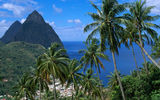 Обои: Карибы, St-Lucia, Soufriere and the Pitons, West Indies, Суфриер, гора Питон