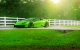 Обои: ADV.1, Green, Jeff, Huracan, Color, Front, LP610-4, Wheels, Lamborghini, Supercar