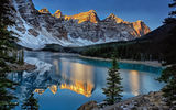 Обои: Moraine Lake, горы, Канада, Canada, Banff National Park, отражение, Valley of the Ten Peaks, Озеро Морейн