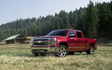Обои: bed, red, 1500, pickup truck, ranch, Chevrolet Silverado, North America, size, pickup, large, double cab, GM, 2014, truck, chevy