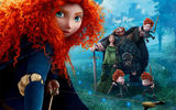 Обои: Brave, King, Scotland, Queen Elinor, Princess, Movie, King Fergus, Red haired, Fortress, Archer, Family, Merida, Film, Disney, Queen