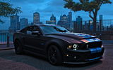 Обои: ford mustang, tuning, black