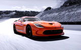 Обои для рабочего стола: Dodge, orange, Viper, track, supercar, speed, TA, SRT, sky