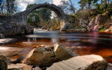 Обои: река, Carrbridge, Scotland, мост, пейзаж