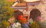 Обои: Sean Wallis, арт, Evening At The Mission