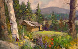 Обои: Sean Wallis, Idaho Cabin Commision, арт