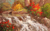 Обои: Sean Wallis, арт, The Rush