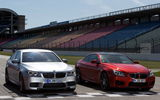 Обои: BMW M5, автомобили, and, BMW M6 Coupe, трасса, Competition Package, вид спереди